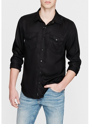 Mavi Jean Gömlek Siyah